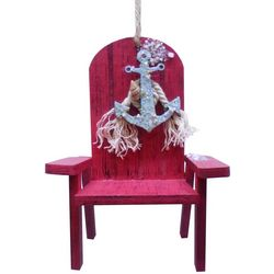 Brighten the Season Florida Bealls Pink Beach Chair Ornament