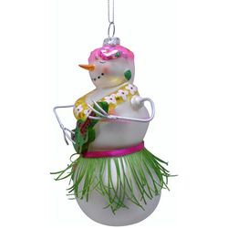 Brighten the Season Palmingo Posh Hawaiin Snowman Ornament