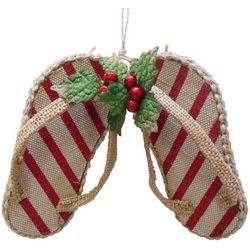 Brighten the Season Florida Bealls Striped FlipFlop Ornament