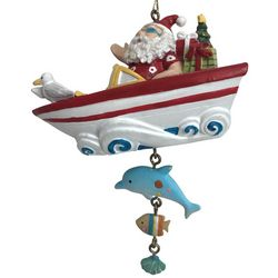 Brighten the Season Florida Bealls Santa Boat Ornament
