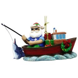 Brighten the Season Florida Bealls Fishing Santa Ornament