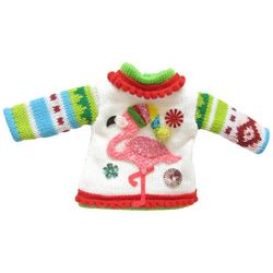 Brighten the Season Florida Bealls Flamingo Sweater Ornament