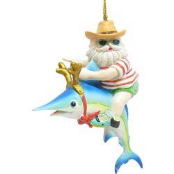 Brighten the Season Florida Bealls Santa Swordfish Ornament