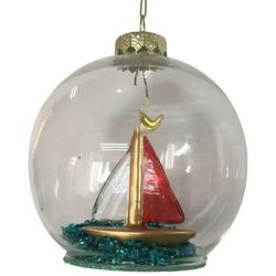 Brighten the Season Florida Bealls Sailboat Ball Ornament
