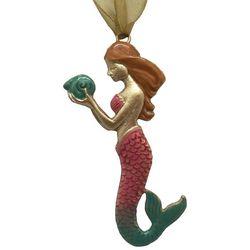 Brighten the Season Fairytale Mermaid Holding Shell Ornament