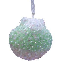 Brighten the Season Fairytale Beaded Clamshell Ornament