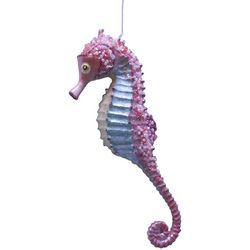 Brighten the Season Fairytale Pink Seahorse Ornament