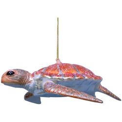 Brighten the Season Fairytale Orange Turtle Ornament
