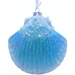 Brighten the Season Fairytale Blue Fan Shell Ornament