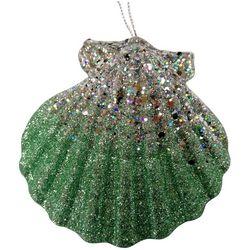 Brighten the Season Fairytale Green Fan Shell Ornament