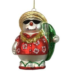 Brighten the Season Florida Bealls Tropical Snowman Ornament