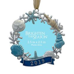 Brighten the Season Sandy Shore 2019 Shell Frame Ornament