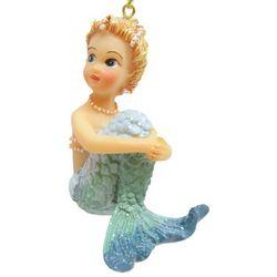 Brighten the Season Fairytale Blue Mermaid Sitting Ornament