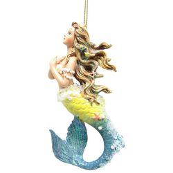 Brighten the Season Fairytale Yellow Mermaid Ornament