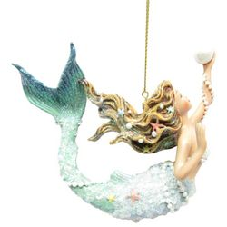 Brighten the Season Fairytale Mermaid and Pearl Ornament