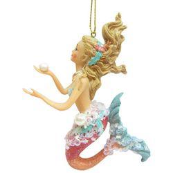 Brighten the Season Fairytale Mermaid Holding Pearl Ornament
