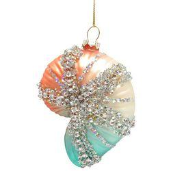 Brighten the Season Fairytale Beaded Nautilus Shell Ornament