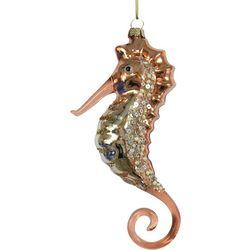 Brighten the Season Fairytale Glass Coral Seahorse Ornament