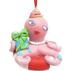 Brighten the Season Brights Pink Octopus Ornament