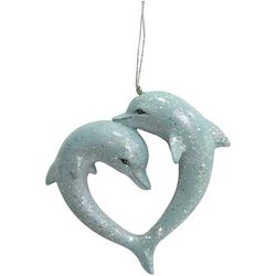 Brighten the Season Sandy Shore Dolphin Couple Ornament
