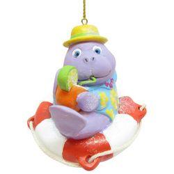 Brighten the Season Brights Purple Seal on a Float Ornament