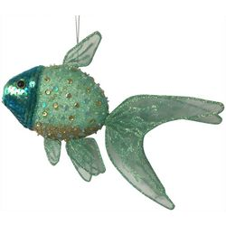 Brighten the Season Fairytale Green Sequin Fish Ornament