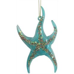 Brighten the Season Fairytale Glass Pink Starfish Ornament