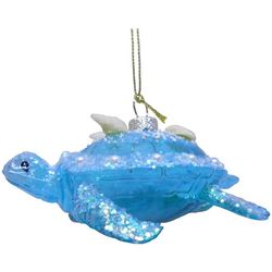 Brighten the Season Sandy Shore Blue Turtle Ornament