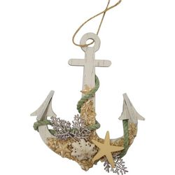 Brighten the Season Sandy Shore Anchor Ornament