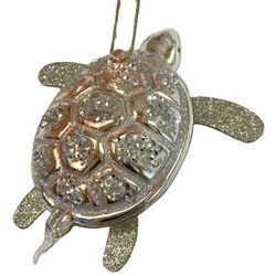 Brighten the Season Fairytale Glass Gold Turtle Ornament