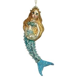 Brighten the Season Fairytale Glass Blue Mermaid Ornament