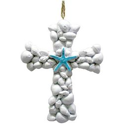 Brighten the Season Sandy Shore Shell Cross Ornament