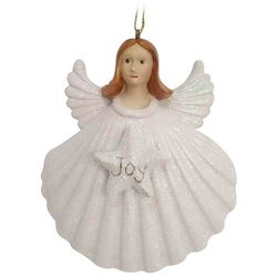 Brighten the Season Sandy Shore Shell Angel Ornament