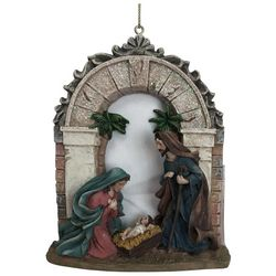 Brighten the Season Sandy Shore Holy Family Arch Ornament