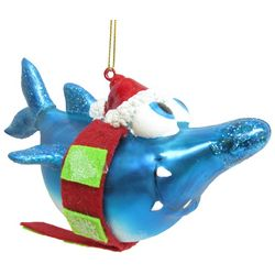 Brighten the Season Brights Glass Shark with Scarf