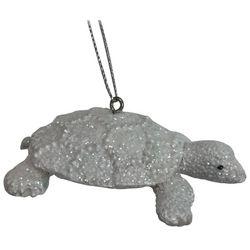 Brighten the Season Sandy Shore Glitter Turtle Ornament