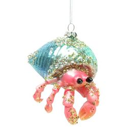 Brighten the Season Brights Pink Glass Hermit Crab