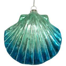 Brighten the Season Fairytale Glass Clam Shell Ornament