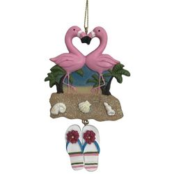 Brighten the Season Brights Flamingo Sandy Toes Ornament