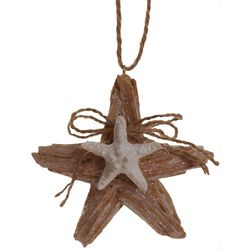 Brighten the Season Sandy Shore Driftwood Starfish Ornament