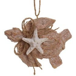 Brighten the Season Sandy Shore Turtle and Starfish Ornament