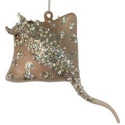 Brighten the Season Glass Gold Stingray Ornament