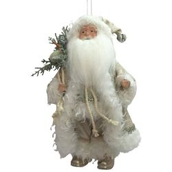Brighten the Season Ivory Coastal Santa Ornament