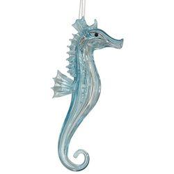 Brighten the Season Glass Blue Seahorse Ornament