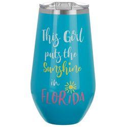 Pure Drinkware 16 oz. Sunshine In Florida Travel Tumbler