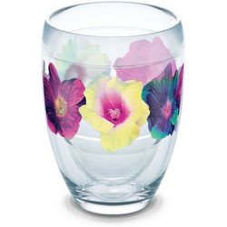 Tervis 9 oz. Hibiscus Floral Stemless Wine Glass