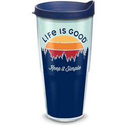 Tervis 24 oz. Life Is Good Keep It Simple Travel Tumbler