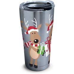 Tervis 20 oz. Stainless Steel Reindeer Travel Tumbler
