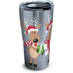Tervis 20 oz. Stainless Steel Reindeer Travel Tumbler