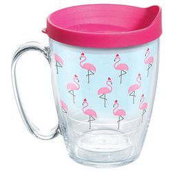Tervis 16 oz. Santa Hat Flamingo Mug With Lid